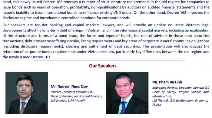 Flyer Event on Debt Capital Market - June 05