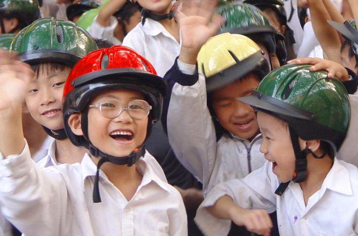 Molte vittime di incidenti in Vietnam e in altri paesi in via di sviluppo sono bambini