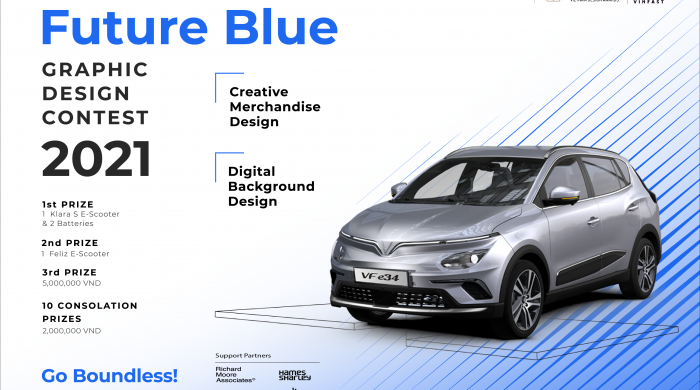 VinFast 1 Blue Graphic Design Competition (DESIGN-NGANG2)_Future Blue ENG - Lanscape